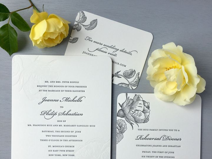 Tmx 1534451732 28800886f803e7e5 1534451730 486f541e879b26dc 1534451729228 4 Roses Joanne Rispo Brooklyn wedding invitation