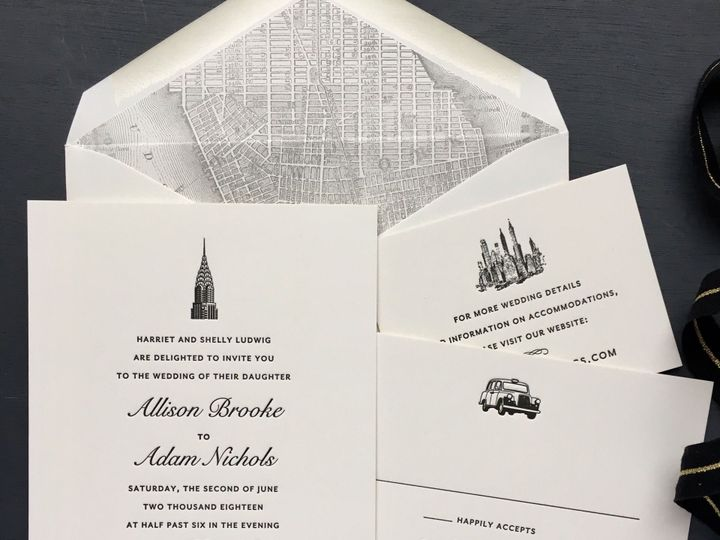 Tmx 1534452027 1c93ce025080c1a2 1534452026 D97697775d1079e3 1534452025355 8 Cities Allison Lud Brooklyn wedding invitation