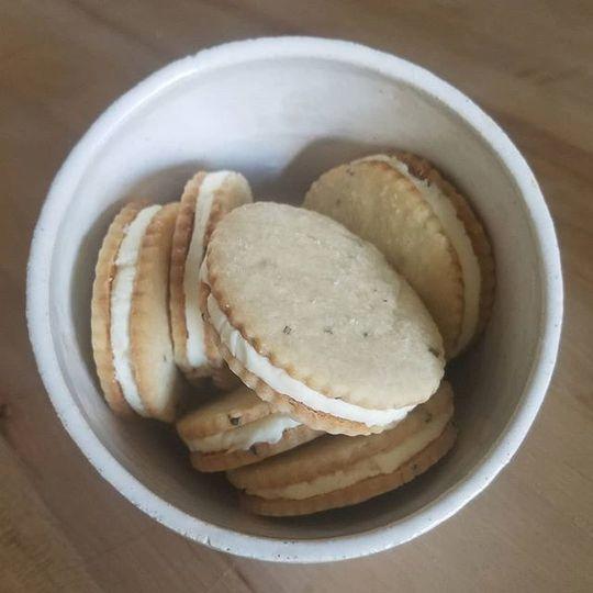 Lemon and rosemary cookies