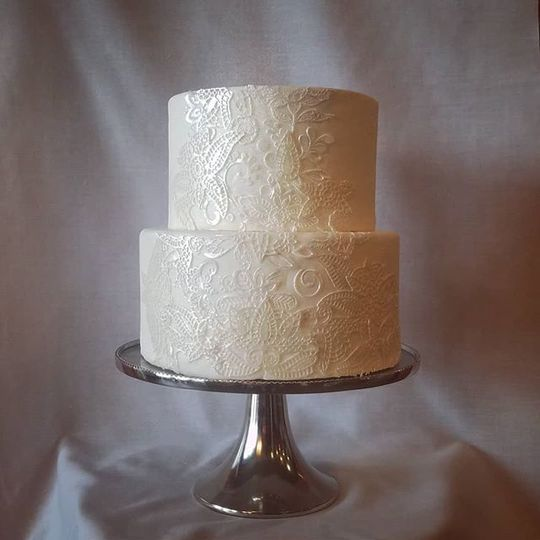 White lace with buttercream