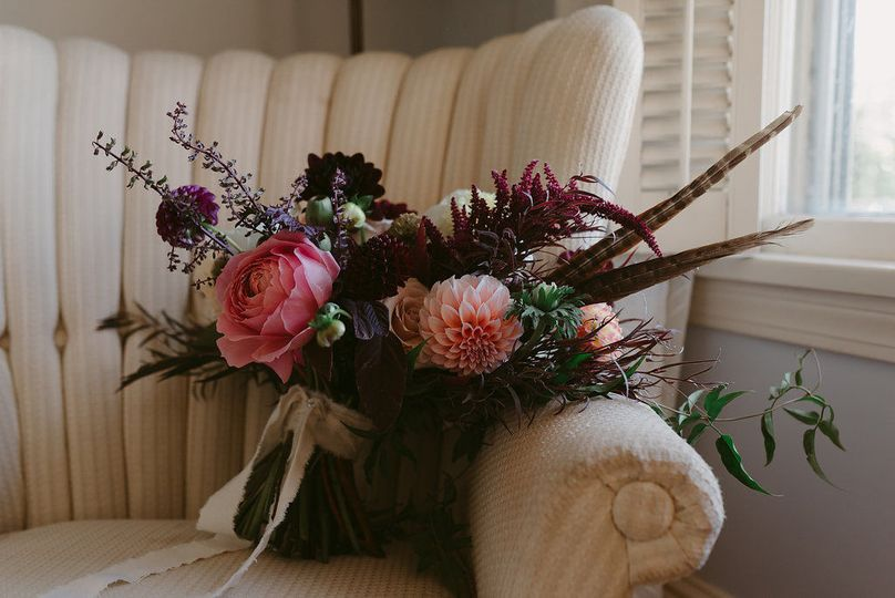 Bouquet on a chair