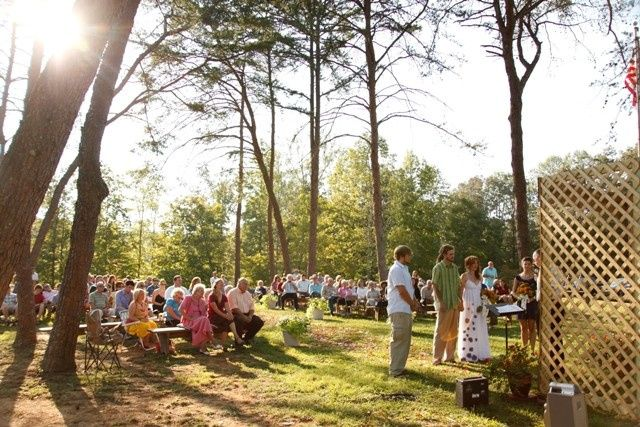 This wedding took place in the Pine Grove area of the property.