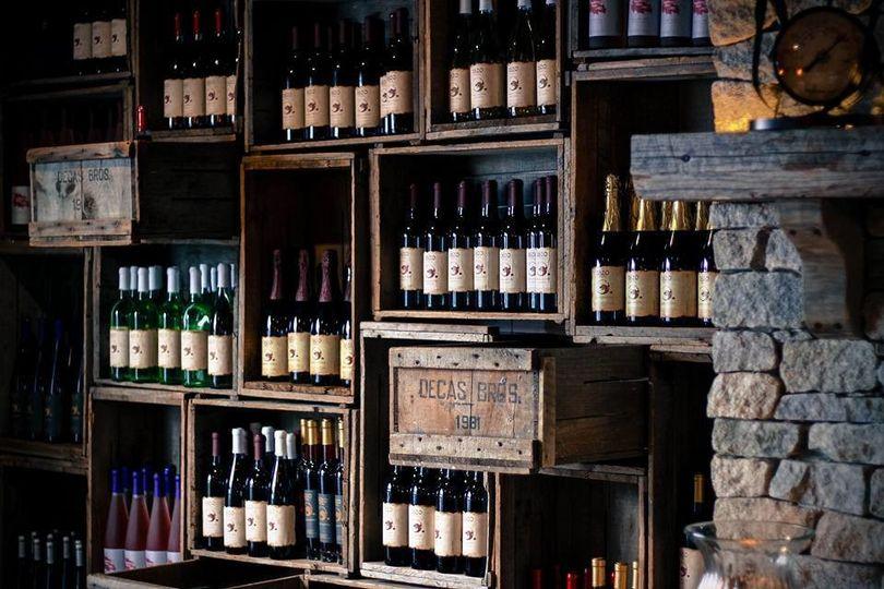 wine racks bar