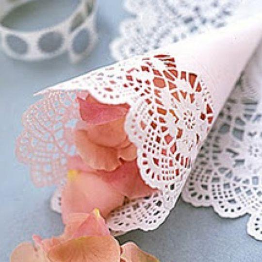 doily rose petals