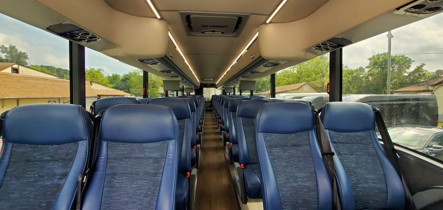 Motor coach inside