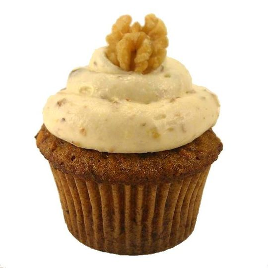 Carrot Cake cupcake with Nutty Cream Cheese frosting