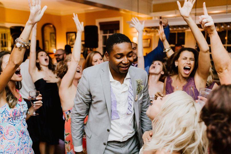 Joyous wedding celebration