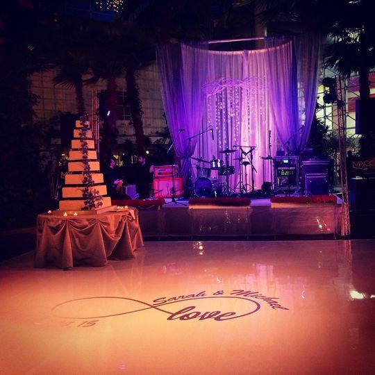 Wedding at the crystal gardens
