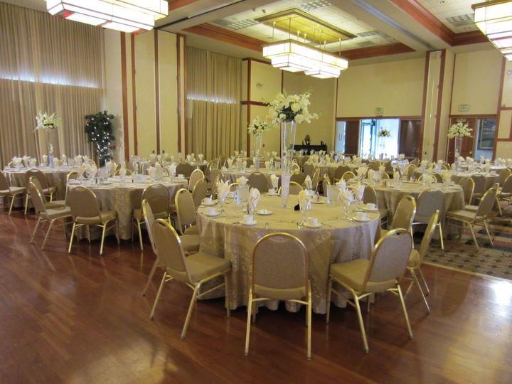 White themed wedding reception