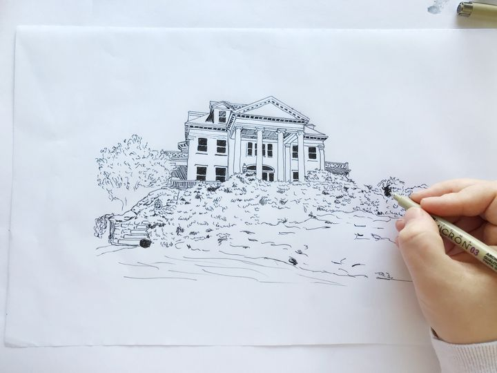 Custom venue illustration