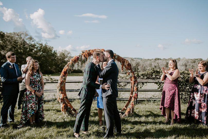 Wedding kiss | Photo by Whitney Nichols Photo
