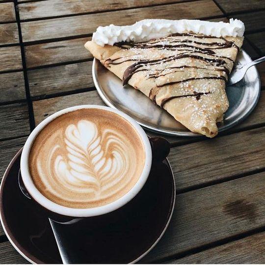 crepe and coffee