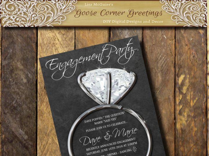 Tmx 1447173159634 Shopbackgroundsilverring Scranton wedding invitation