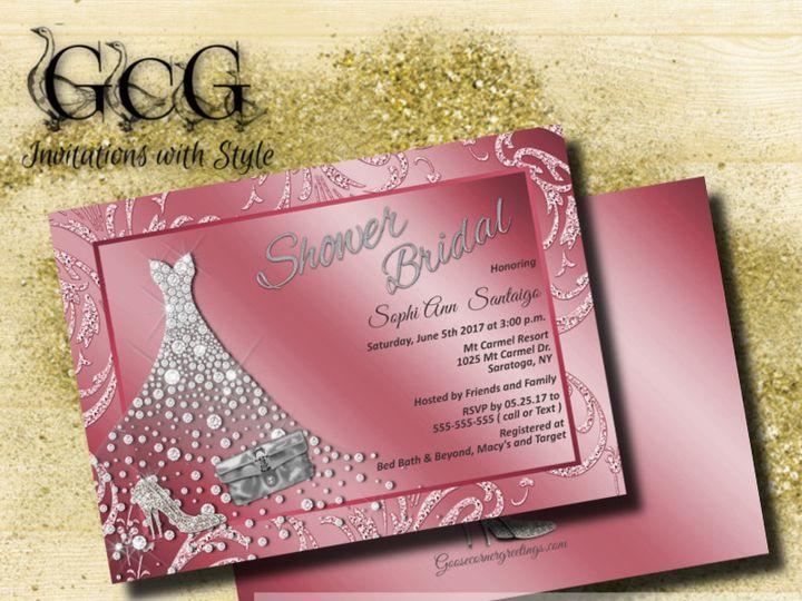 Tmx 1486487145695 Shopbackgroundglitterrose Scranton wedding invitation