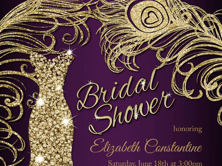 Tmx 1486487166970 Purplegold Scranton wedding invitation