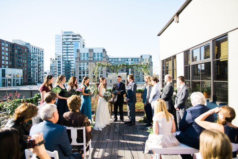 Wedding ceremony on the Rooftop Terrace