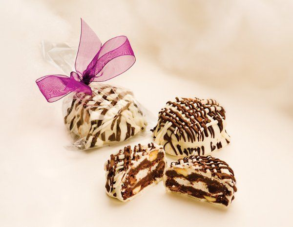 Rock-A-Mallow Wedding Cookie Favors: Imagine yourself eating the perfect cookie, double dark and...