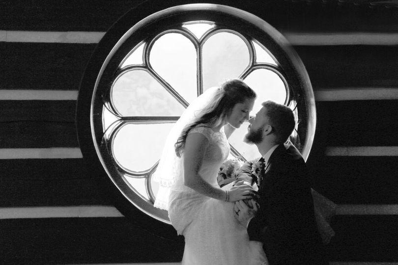 Romantic black and white shot