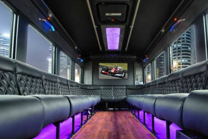 Inside the Luxury Limo Bus
