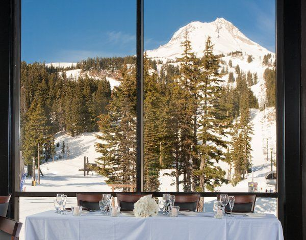 Gorgeous view of Mt. Hood from the Vertical Ballroom.