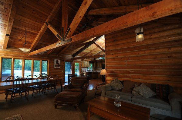 The log home at Cooper Spur Mountain Resort sleeps 12, perfect for the bridal party or extended...