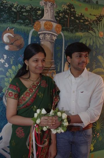 These sweet people married in my home before going to going to India for a three day wedding there....