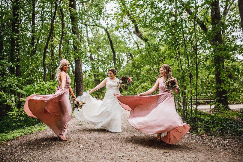 Katie with her bridesmaids