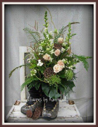 Tmx 1360334010385 LindsayBootArrangement Monroe wedding florist