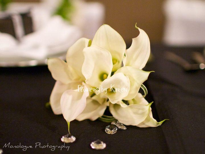 Tmx 1360334155740 BridesmaidBouquetontable Monroe wedding florist