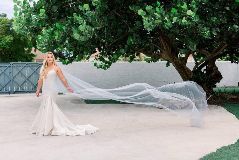 Blue Mist Bridal Cape