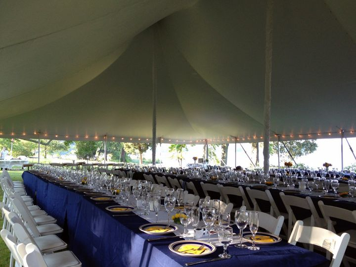Tmx 1376884561923 40x60 Tent With Banquet Tables Mechanicsville wedding dj