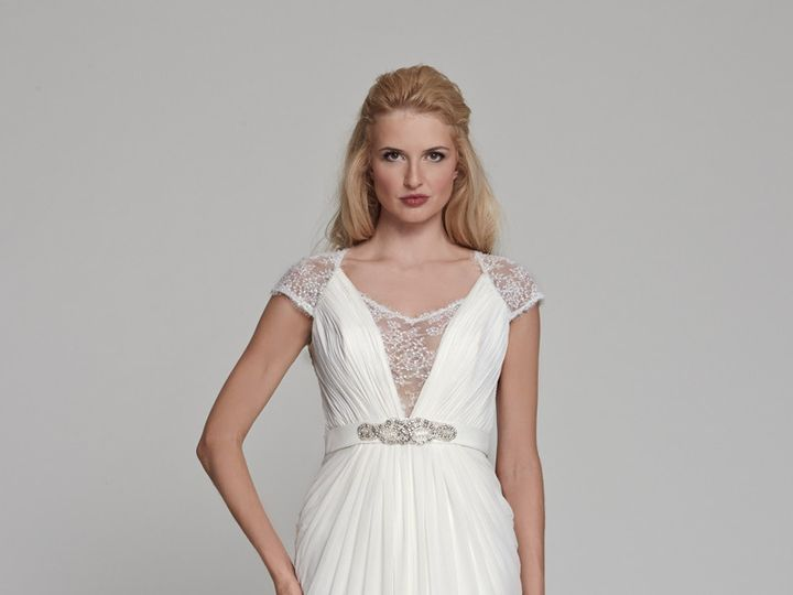 Tmx 1415305975544 Freesia Front Ridgewood wedding dress
