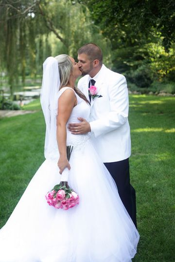 Beautiful Bride and Groom Portrait taken at Saint Mary's College in Notre Dame Indiana