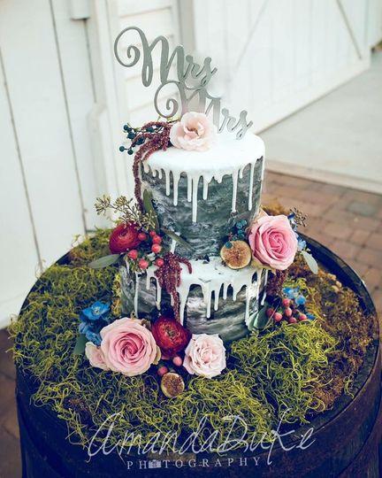 Customized wedding cake