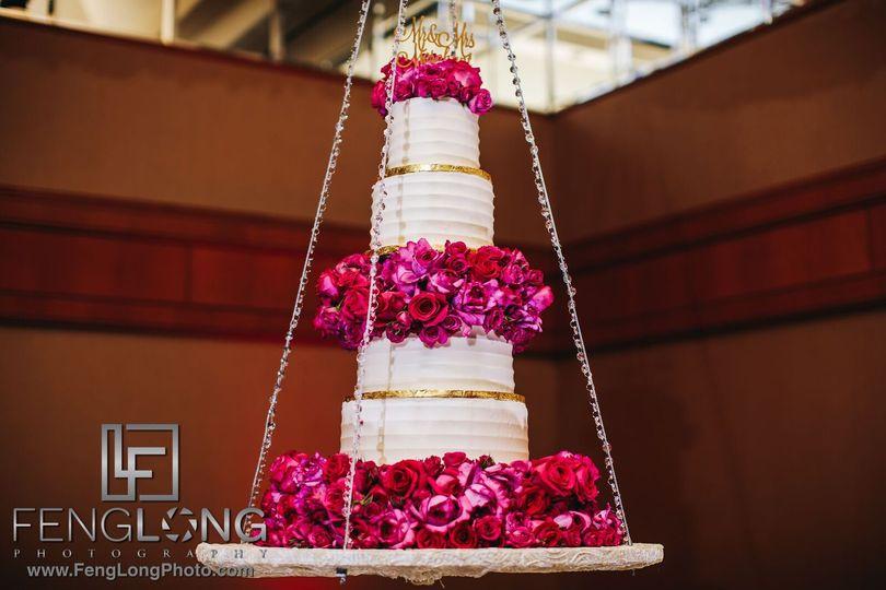 Pink motif cake
