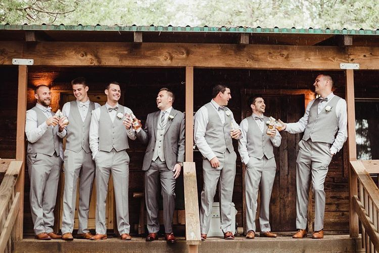 28 rooms on site, our rustic cabins are great for families and Groomsman alike