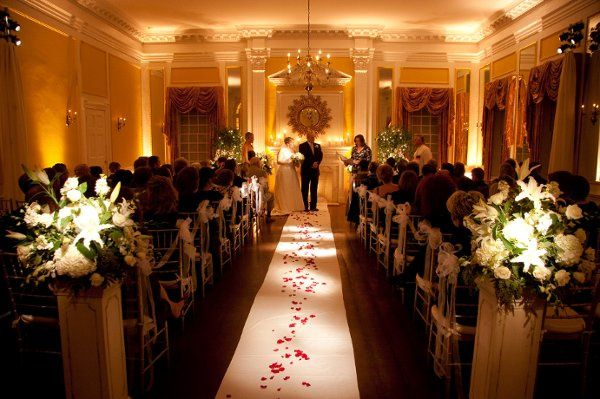 A beautiful winter wedding ceremony in our Grand Ballroom