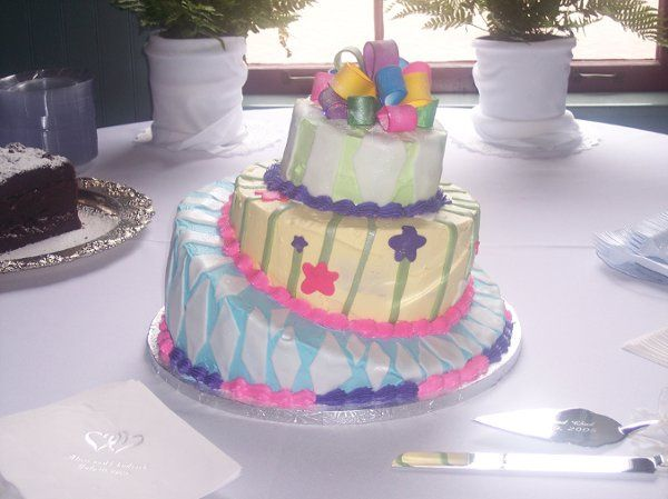 Topsy Turvey cake for a non-traditional bride.