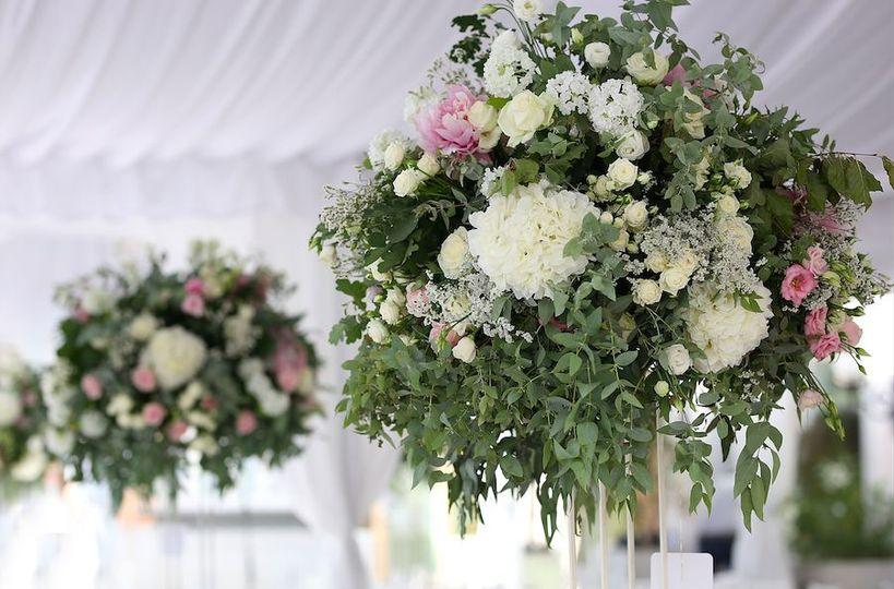 Sample flower set-ups