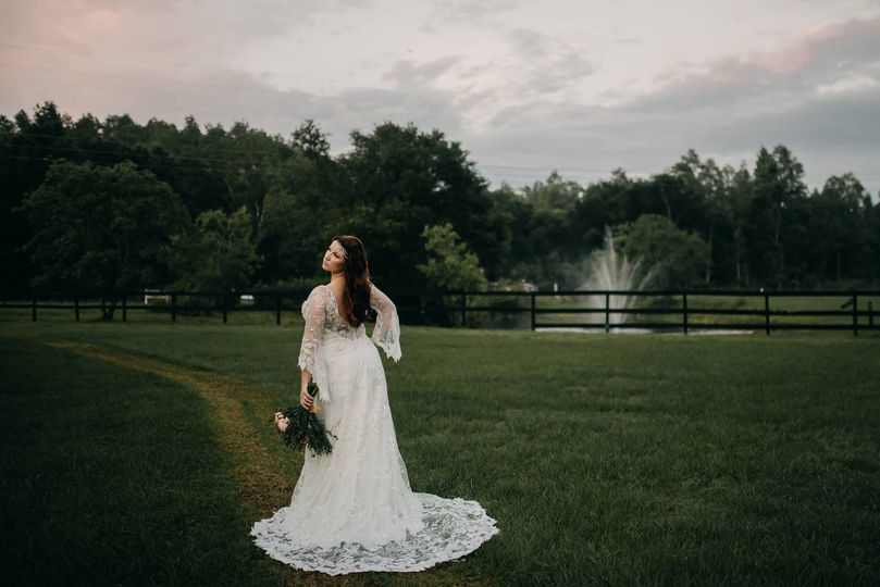 Sleeved wedding gown