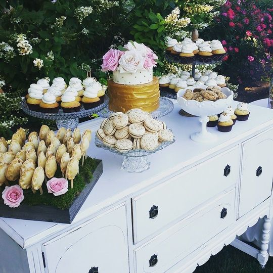 Wedding cake and dessert station