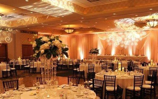 Wedding venue with uplighting