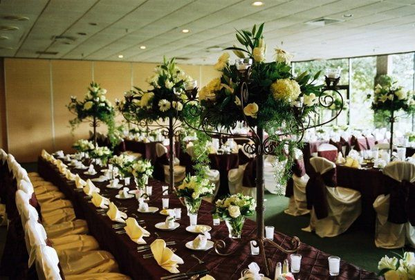 The head table - all dressed up.