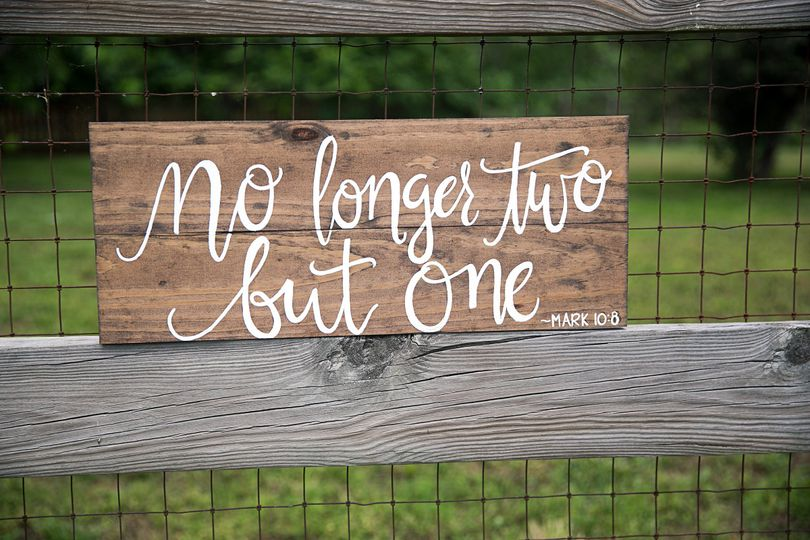A lovely sign to use for your engagement photos as well as later on in your new wed home.