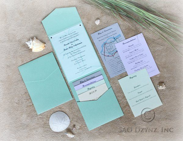 Custom designed Pocketfold Wedding Invitation with Inserts  Like what you see? View more work here:...