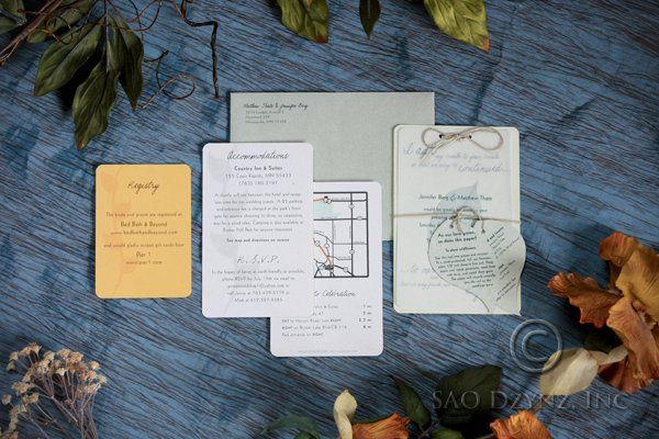 """Green"" Wedding Invitations - All items are made from recycled material, including seed paper which..."