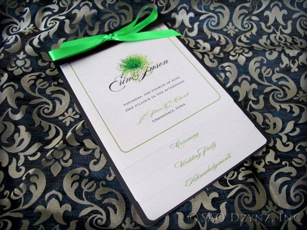 Tmx 1316198295011 ErinJasonProgram Dubuque wedding invitation