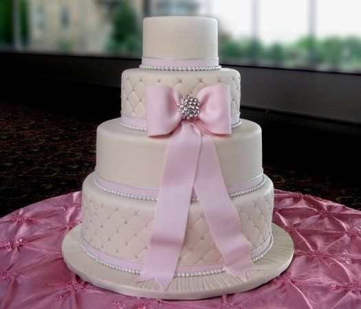 4-tier cake with edible bow