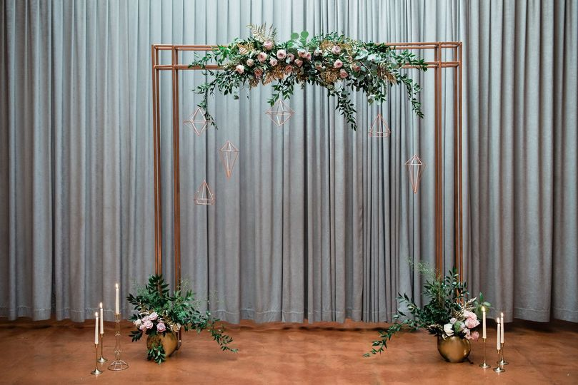 Industrial ceremony arch