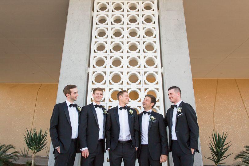 San Diego desert groomsmen